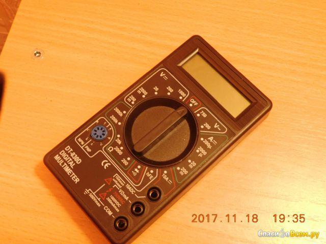 Мультиметр Digital multimeter 830D фото