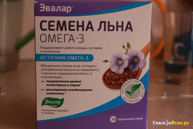 "Семена льна ""Эвалар"" Омега-3 фото"