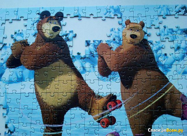 """Пазлы Step Puzzle """"Маша и медведь"""" 260 элементов фото"""