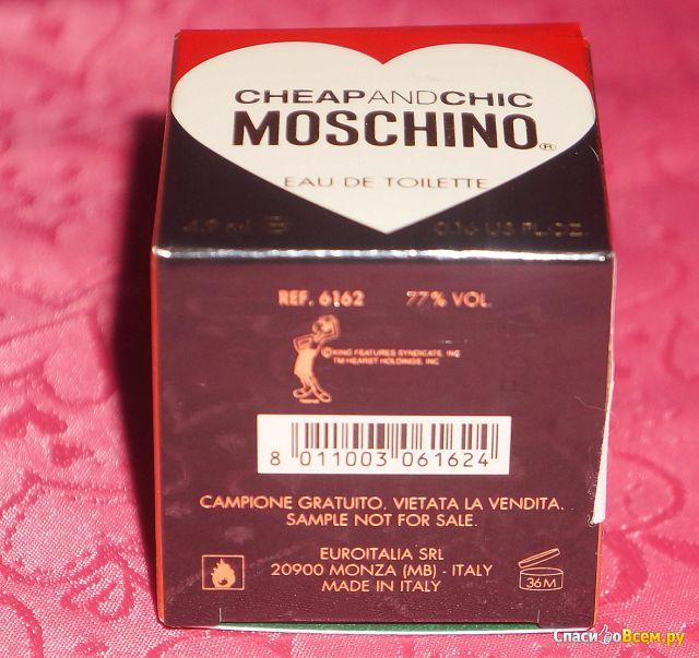 Туалетная вода Moschino Cheap and Chic фото