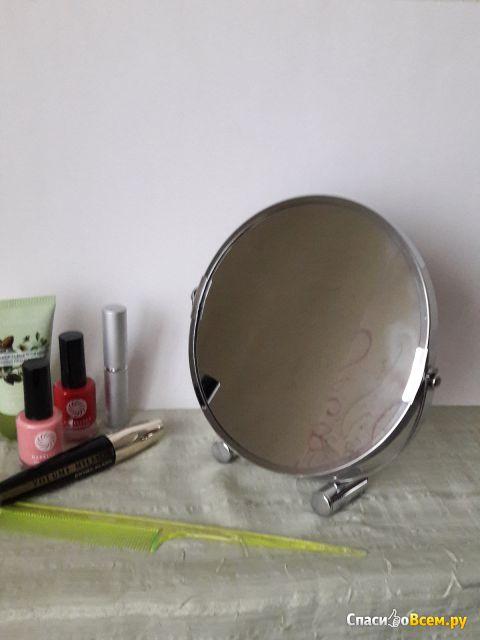 Зеркало косметическое настольное Anho Trading Services Limited, увеличение 1Х/2Х, D 17 cм фото