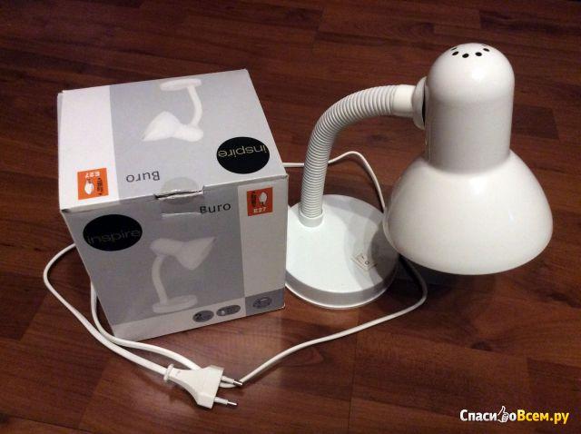 Настольная лампа Inspire Buro, цоколь E27 фото