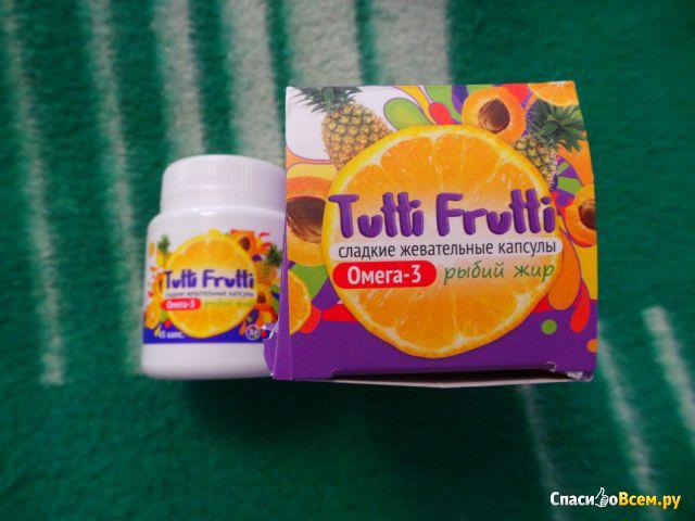 Детский рыбий жир Омега Фарма Tutti Frutti Сладкие жевательные капсулы
