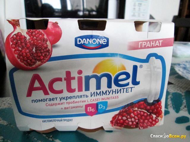 """Кисломолочный продукт """"Actimel"""" гранат фото"""