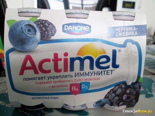 """Кисломолочный продукт """"Actimel"""" черника ежевика фото"""