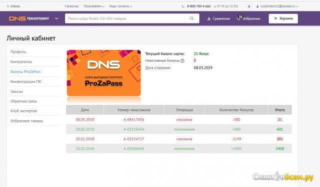 Карта выгодных покупок ProZaPass от сети магазинов DNS фото