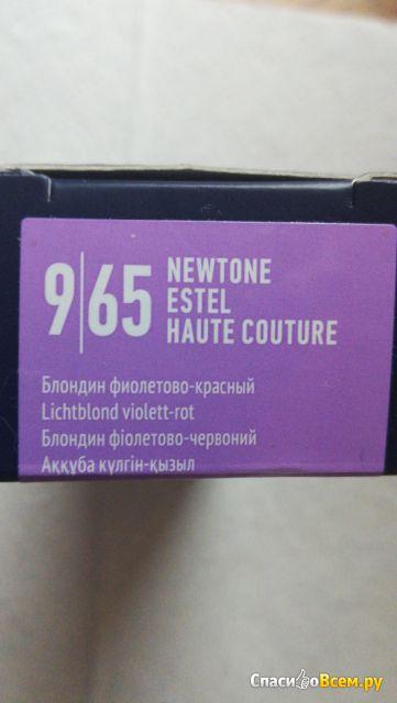 Тонирующая маска для волос Newtone Haute Couture Estel. Блондин фиолетово-красный 9/65 фото