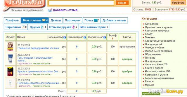 Сайт Tutux.ru фото