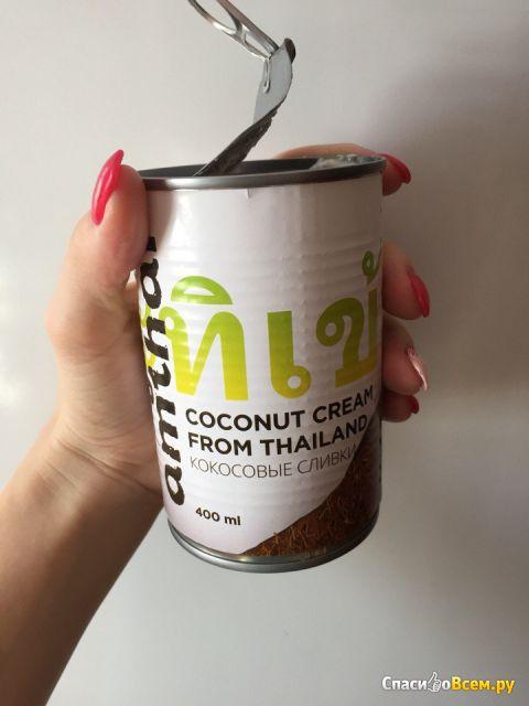 Сливки кокосовые Amthai Coconut cream фото