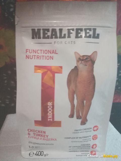 Сухой корм для кошек Mealfeel с курицей и индейкой Indoor фото