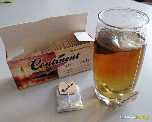 """Чай чёрный байховый цейлонский """"Эрл Грей"""" Continent Ceylon пакетированный фото"""