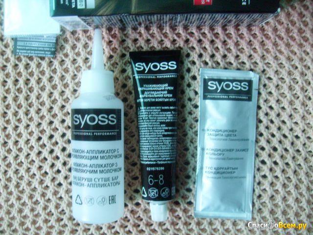 Стойкая крем-краска для волос Syoss Professional Performance 6-8 тёмно-русый фото