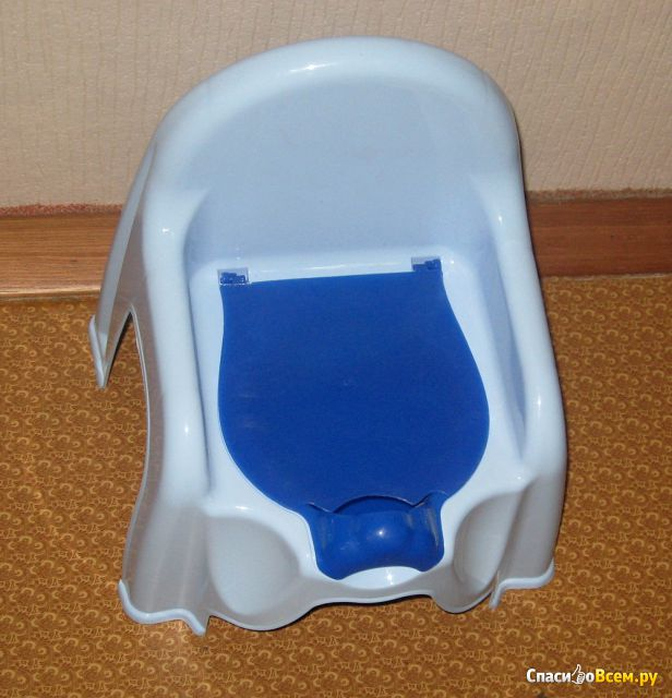 "Горшок-стульчик ""Альтернатива"" М1326 голубой фото"