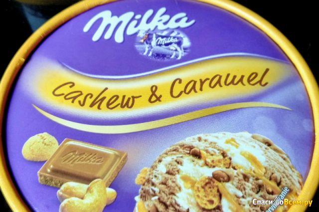 Мороженое Milka Cashew & Caramel фото