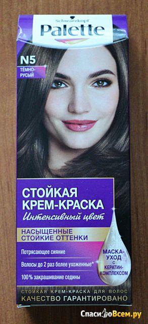 """Стойкая крем-краска для волос Schwarzkopf """"Интенсивный цвет"""" Palette N5 Тёмно-русый фото"""