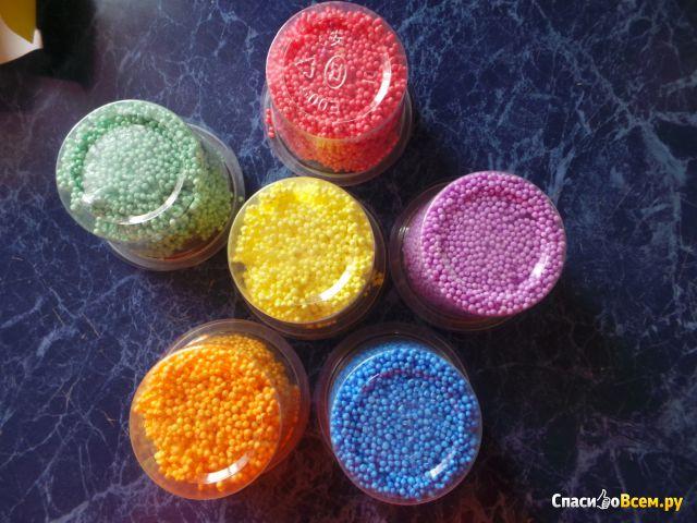 Пластилин шариковый крупнозернистый незастывающий Каляка-Маляка 6 цветов фото