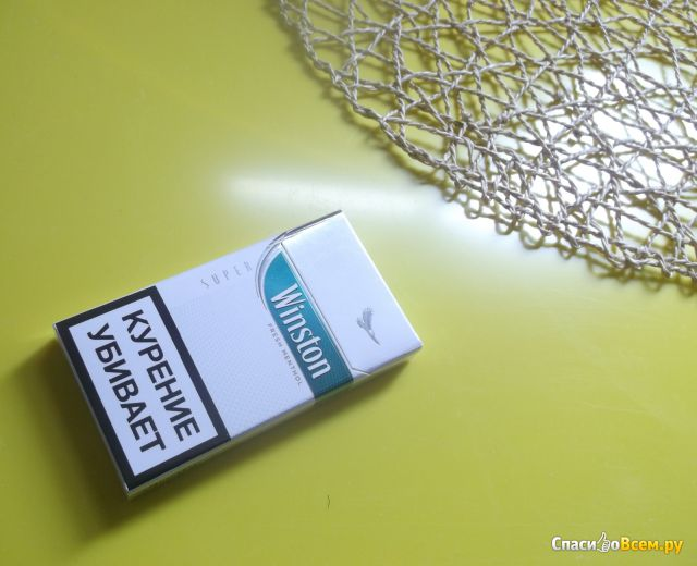 Сигареты Winston Super Slims Fresh Menthol фото