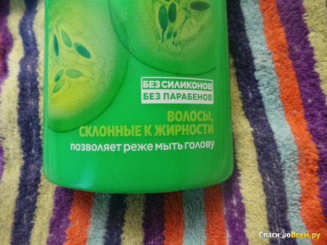 Укрепляющий шампунь Garnier Fructis Огуречная свежесть фото