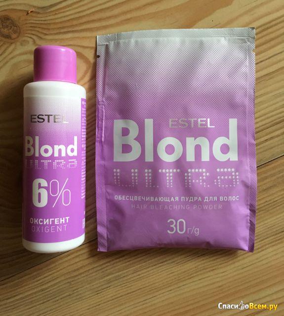 Обесцвечивающая пудра для волос Estel Blond ultra фото