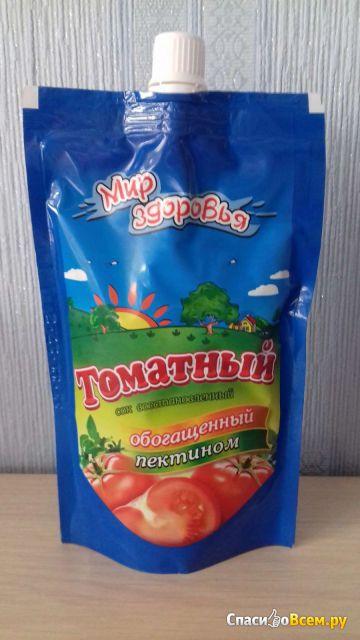 """Сок """"Мир здоровья"""" томатный, обогащенный пектином фото"""