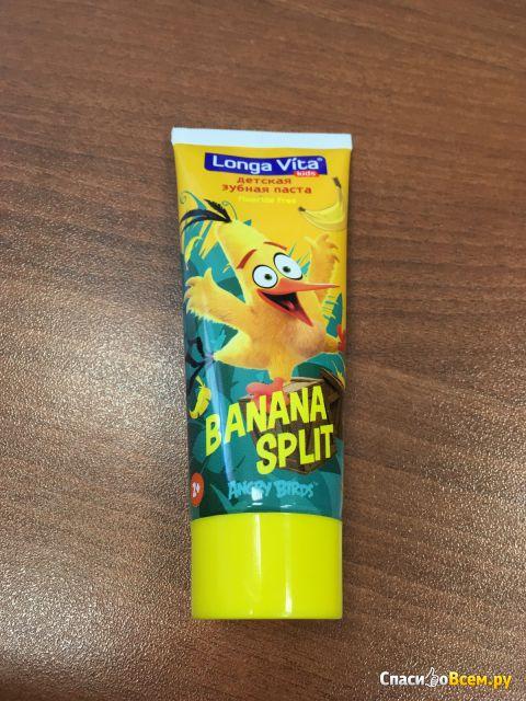 Детская зубная паста Longa Vita  для детей от 2-х лет Angry Birds Banana Split фото