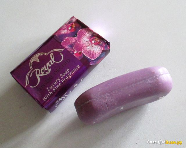 Туалетное мыло Royal Sensual Orchid Luxury Soap With Fine Fragrance фото
