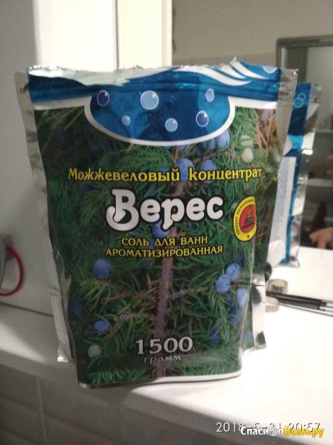 """Соль для ванн ароматизированная Можжевеловый концентрат """"Верес"""" фото"""