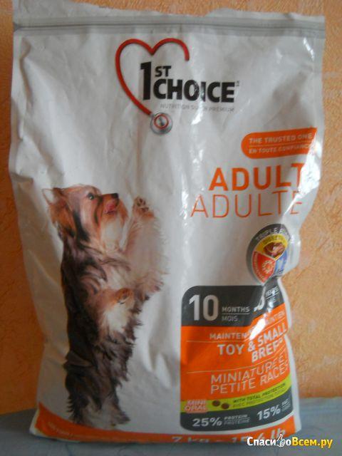 Сухой корм 1st Choice Adult Toy&Small Breeds для взрослых собак миниатюрных и малых пород фото