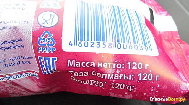Мороженое Коровка из Кореновки Здоровый рожок с черной смородиной фото