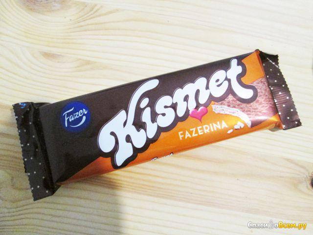 Вафля с апельсиновым вкусом в молочном шоколаде Kismet Fazerina Fazer фото