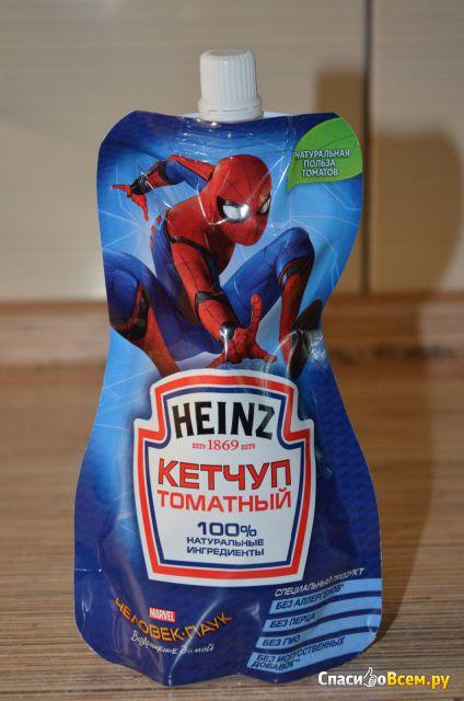 Кетчуп томатный Heinz Человек-паук фото