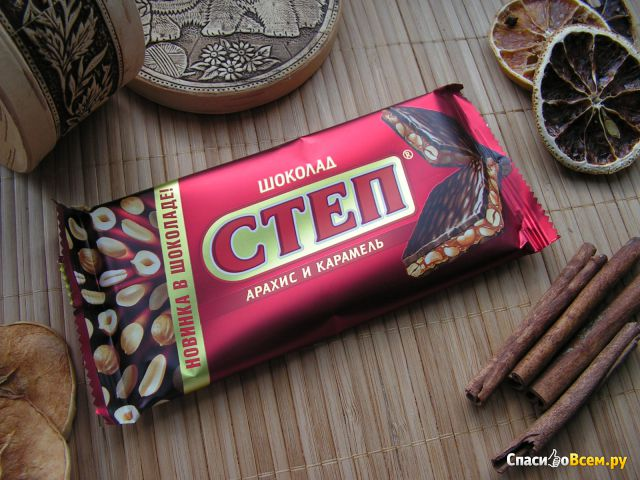 "Шоколад Славянка ""Степ"" Арахис и карамель фото"