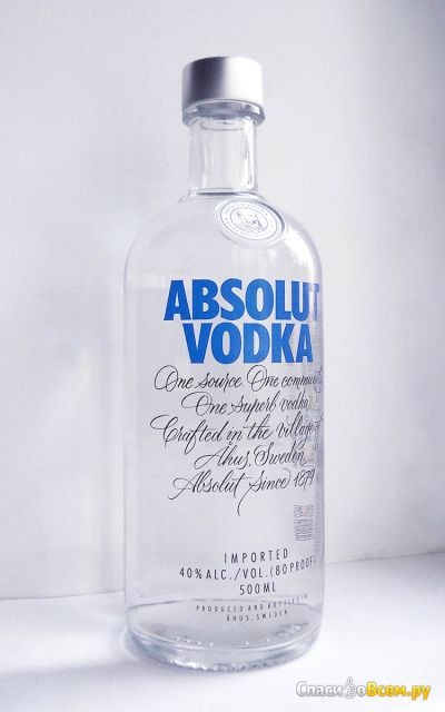 Водка Absolut original фото