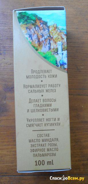 """Крымское натуральное масло Мануфактура """"Дом природы"""" Миндальное с экстрактом крымской розы фото"""