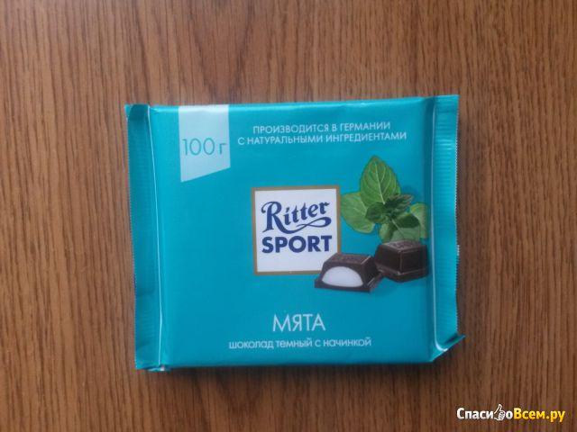 Шоколад Ritter Sport Pfefferminz с перечной мятой