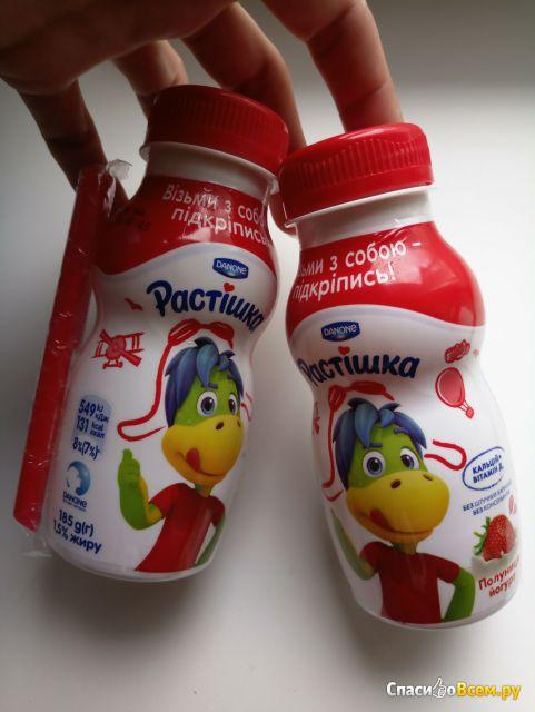 """Йогурт питьевой Danone """"Растишка"""" клубникa фото"""