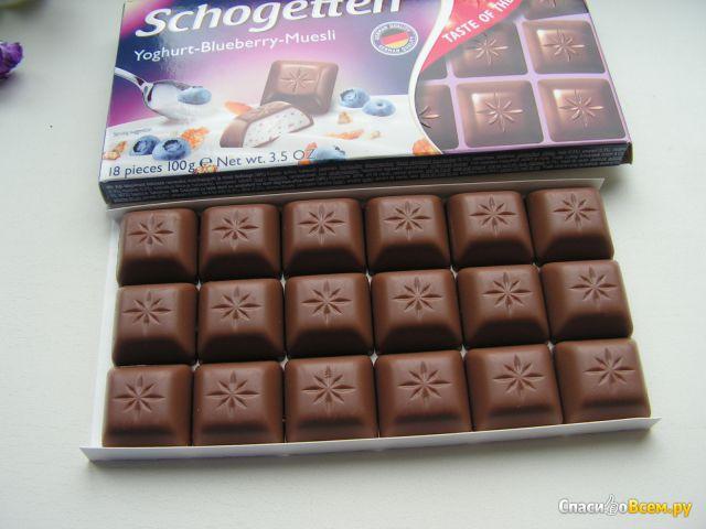 "Шоколад ""Trumpf"" Schogetten Yoghurt-Blueberry-Muesli фото"