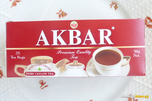 Чай Akbar цейлонский байховый мелкий в пакетиках