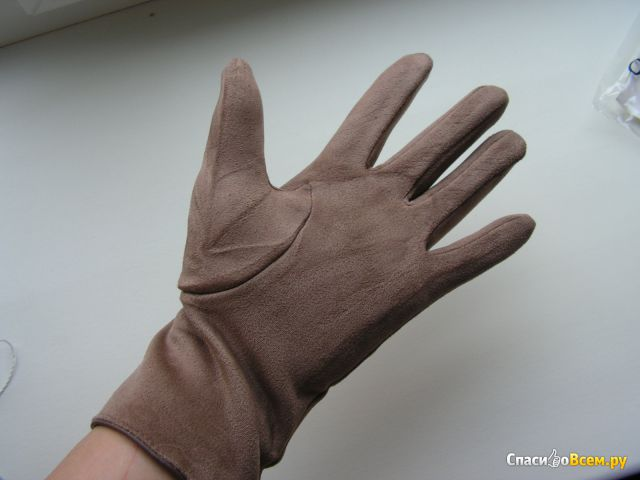 """Перчатки женские замшевые """"Crosh"""" арт. ZaW-003 c04 фото"""