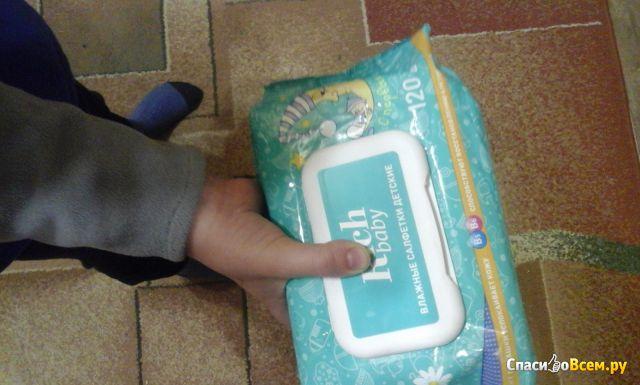 Детские влажные салфетки для новорожденных Rich Baby фото