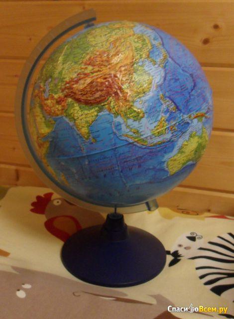 Глобус Земли Globen физический рельефный диаметр 250 мм фото