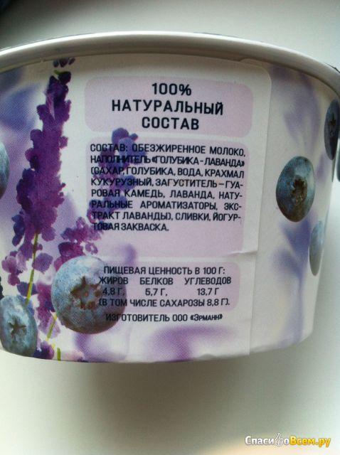 """Высокобелковый йогурт """"Epica Bouquet"""" голубика-лаванда 4,8% фото"""