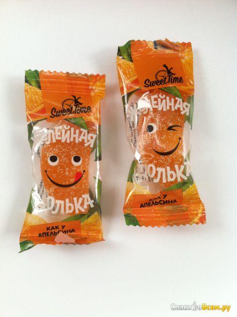 """Конфеты мармеладные """"Желейная долька как у апельсина"""" Свит Тайм фото"""
