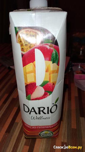 Сок Dario Wellness Микс из супер фруктов Манго-Личи-Маракуйя фото