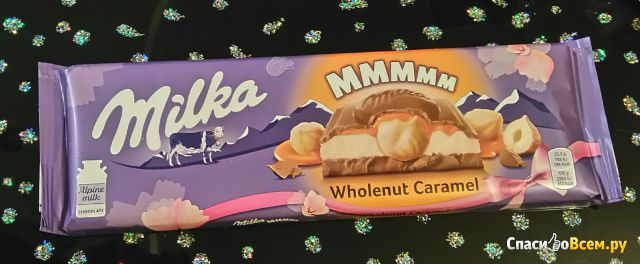 Шоколад Milka Wholenut Caramel фото