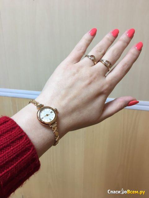 """Часы наручные золотые """"Ника"""" VIVA 0362.0.1.13C фото"""