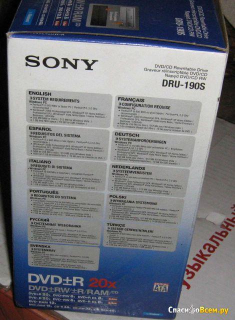 Оптический привод Sony DRU-190S DVD-RW SATA фото
