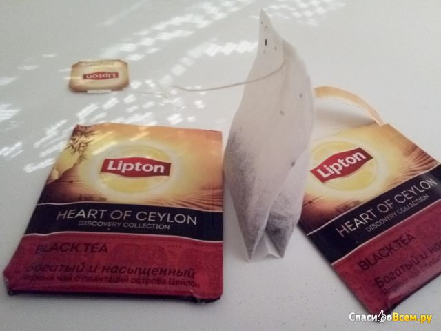 Lipton черный чай в пакетиках Heart of Ceylon фото