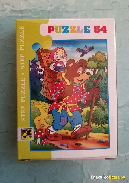 "Пазл Step Puzzle 54 элемента, ""Маша и Медведь"""