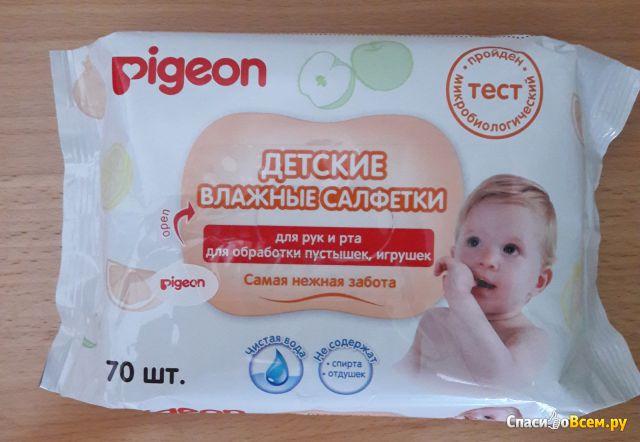 Детские влажные салфетки Pigeon для рук и рта, для обработки пустышек, игрушек фото